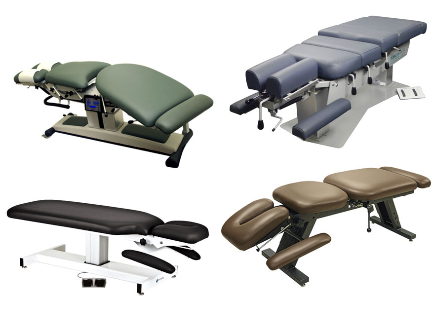 four medical tables - upholstery